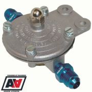 PETROL KING FUEL PRESSURE REGULATOR FOR CARBS 1.5 TO 5 PSI WITH AN8 PIPE TAILS